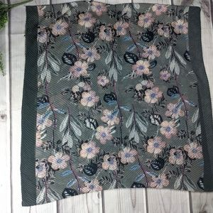 Lulla | Pleated Floral Scarf